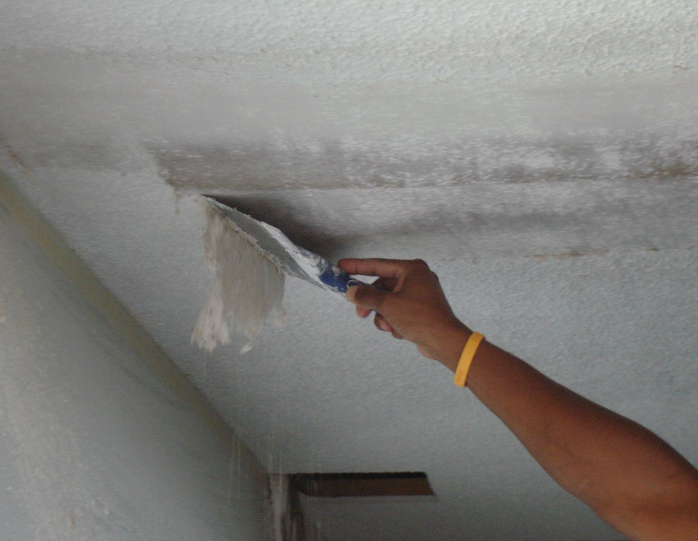 How To Remove Popcorn Ceiling With Asbestos