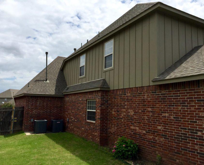 Broken arrow painter exterior repaint brick house dukes for Homedepot colorsmartbybehr com paintstore