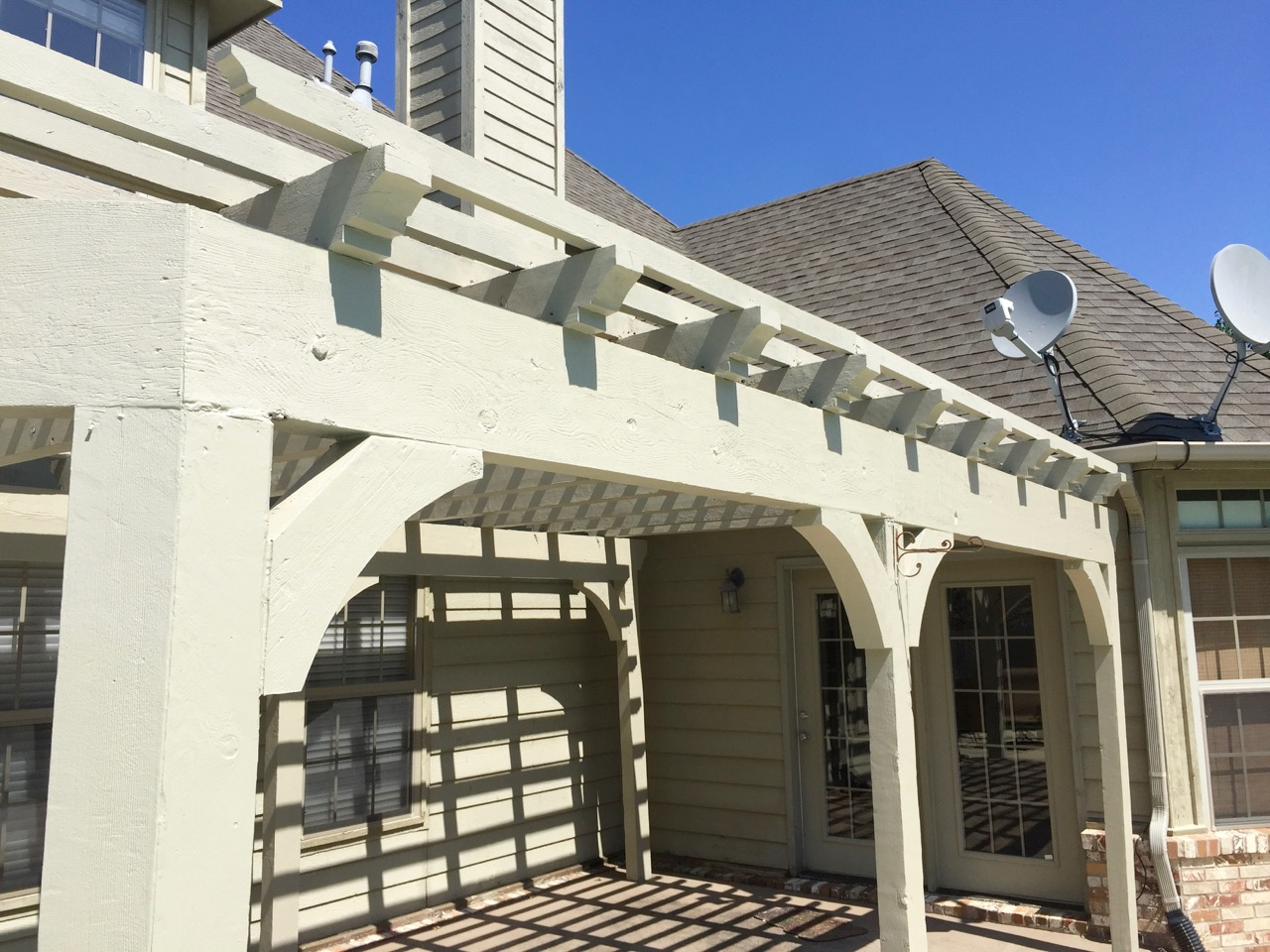 Pergola And Pool House Painting Dukes Painting