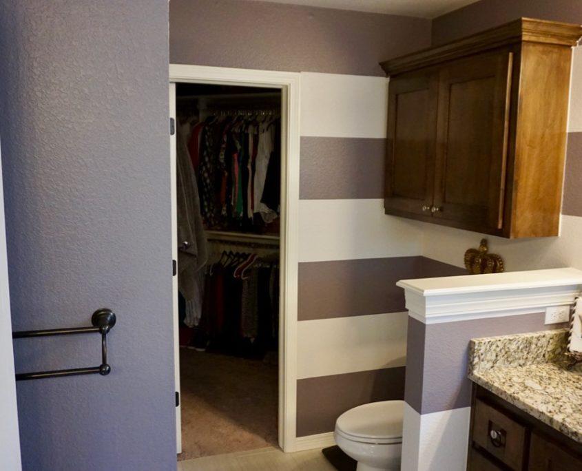 Large Horizontal Striped Master Bathroom