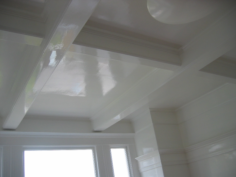 Semi gloss paint on ceiling for Best paint finish for bathroom ceiling