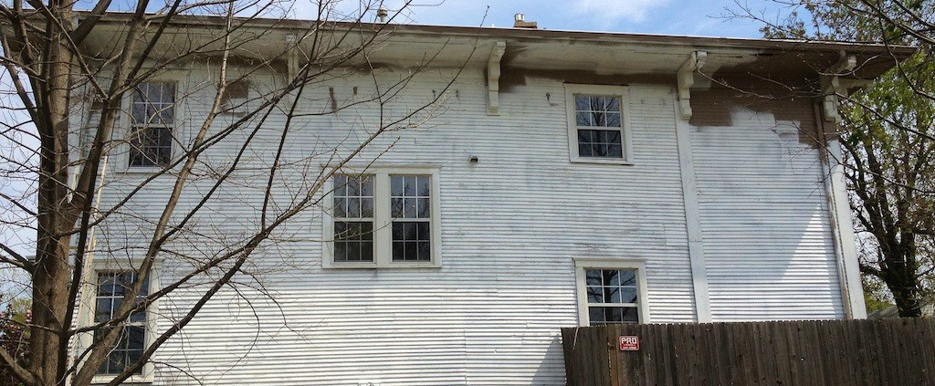 Tulsa Colonial Exterior Paint Job With Lead Paint Dukes Painting