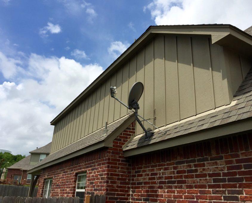 Broken Arrow Painter Exterior Repaint Brick House Dukes