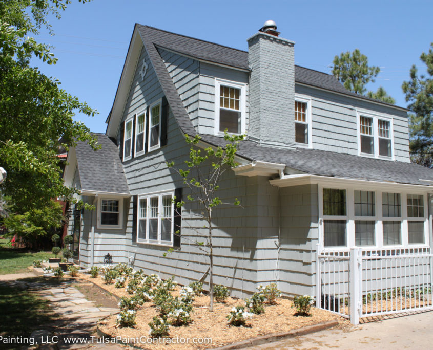 Utica Square Area Complete Exterior Repaint Gray And